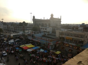 Crowded market as seen from top of the charminar